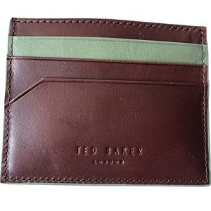 TED BAKER Men/'s Brown Leather Trifold Wallet BNIB BNWT
